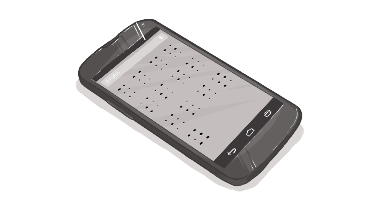 smartphone with braille