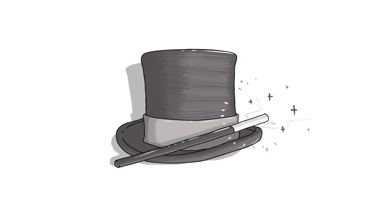 top hat and wand