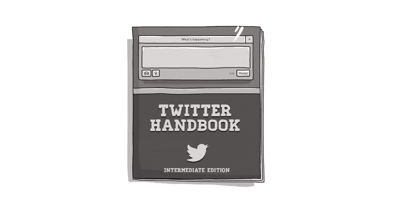 An image of a book that says Twitter Handbook.