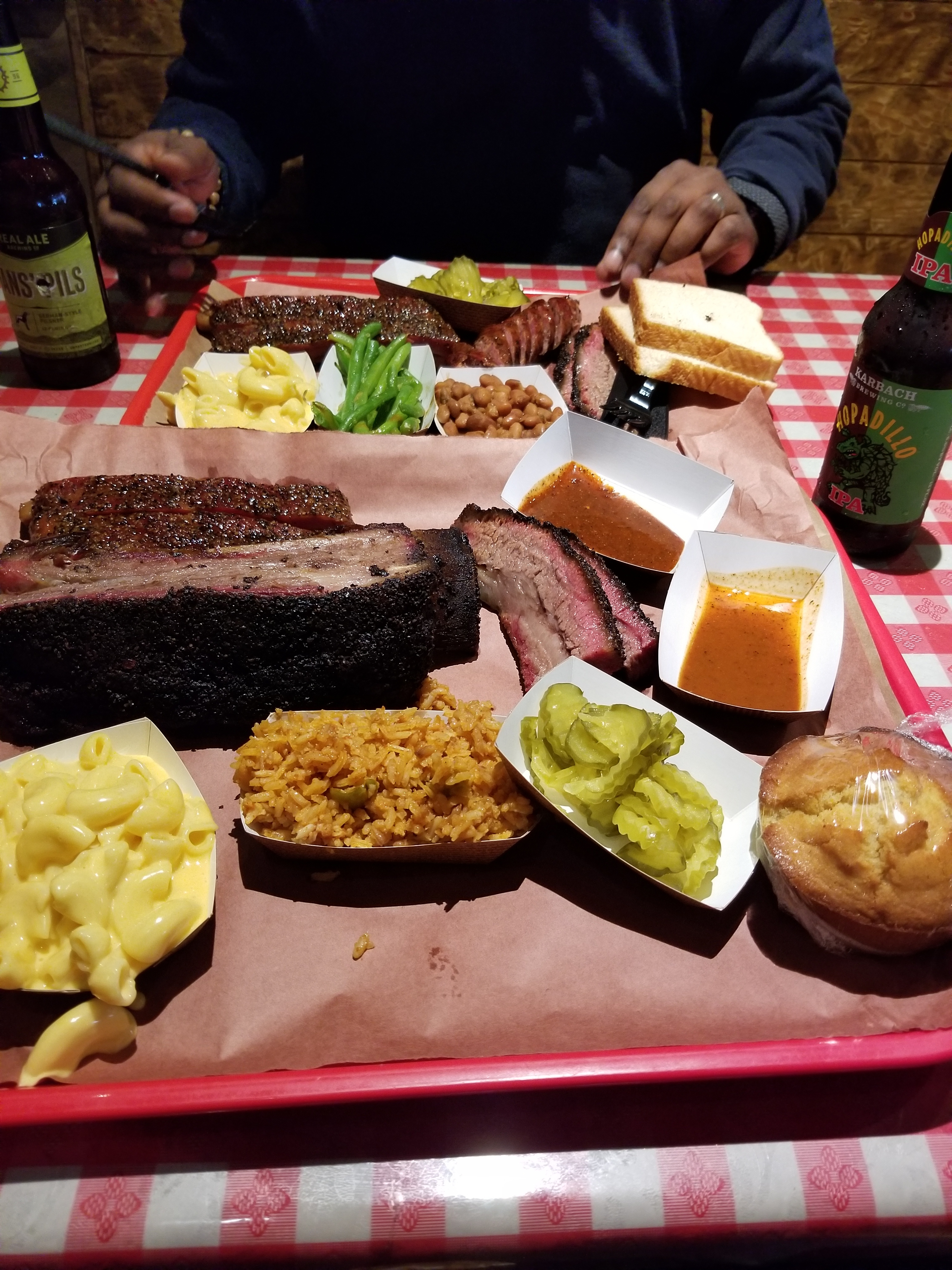 An image of a BBQ spread from Austin