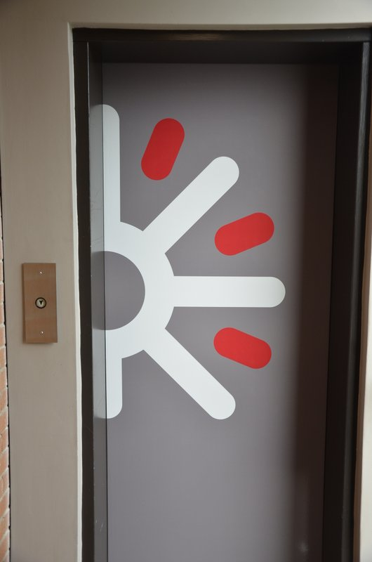 An image of the Digital Echidna logo marking the third-floor elevator