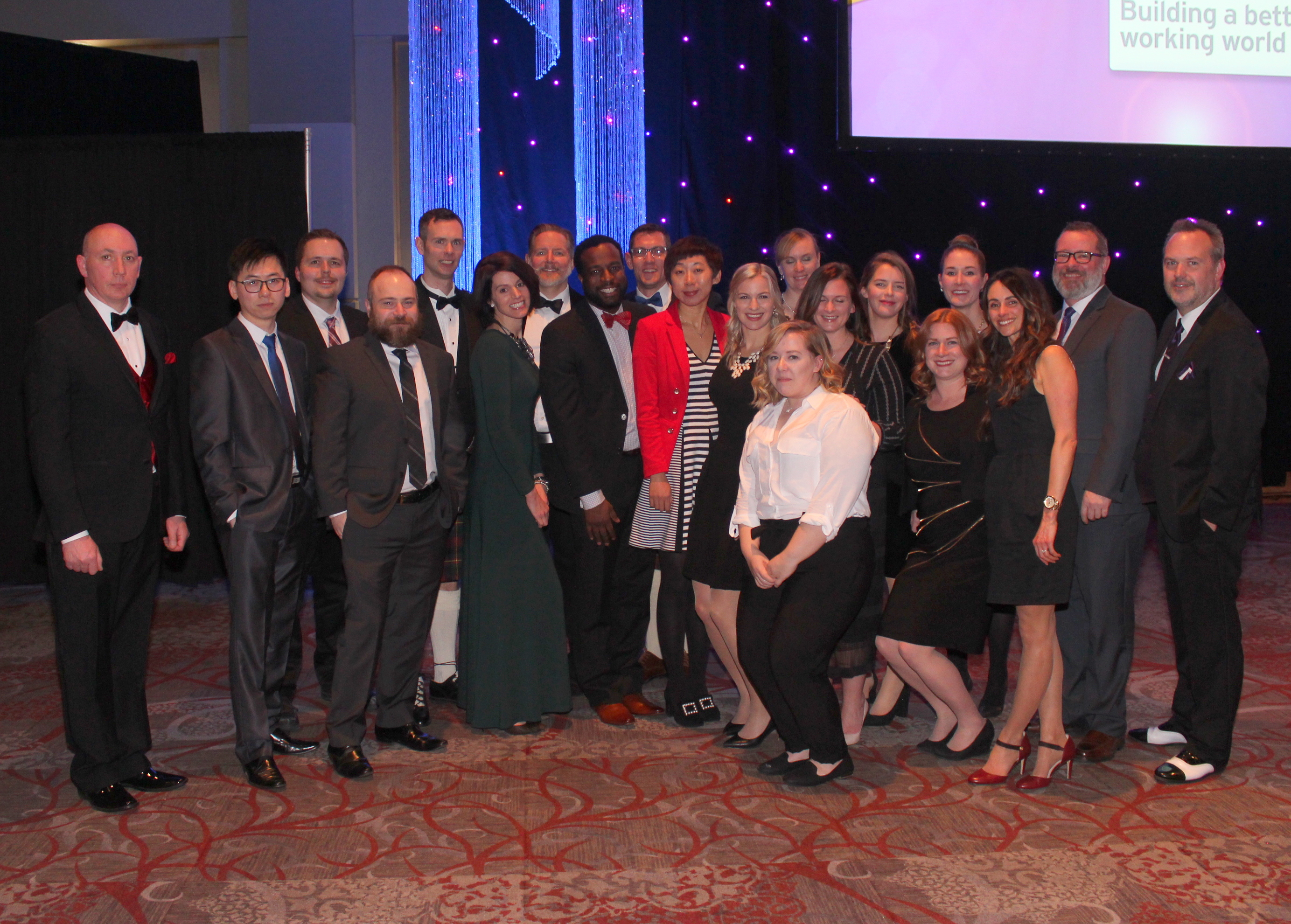 An image of the Echidna team that attended the Business Achievement Awards