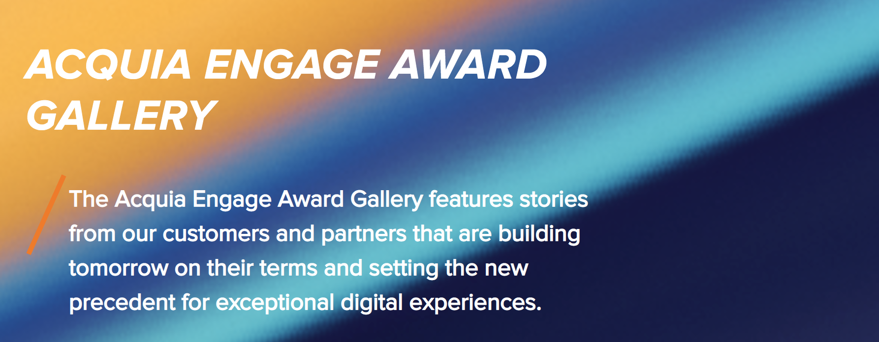 Acquia Engage Award Gallery
