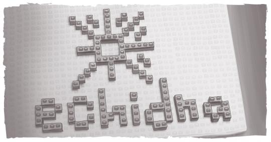 An image of the Digital Echidna logo in lego bricks.
