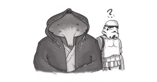echidna in star wars costume