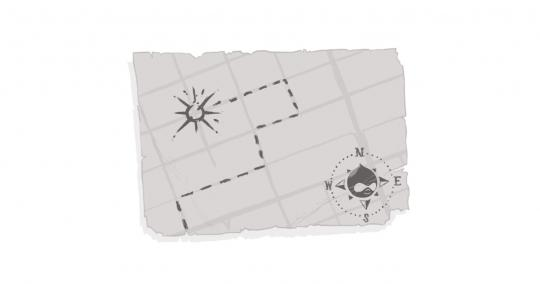 An image of a treasure map leading to Digital Echidna's logo.